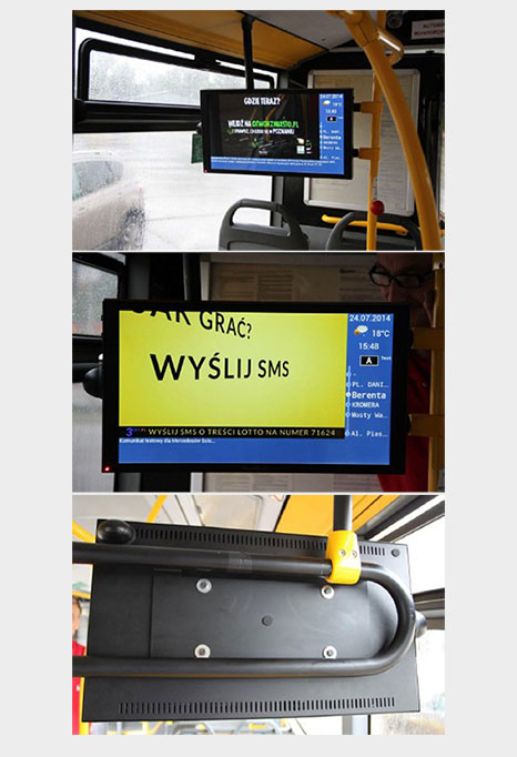 Monitor reklamowy do autobusu